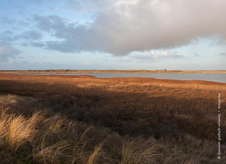 Foto van de Horsbaai in de winter, Texel.