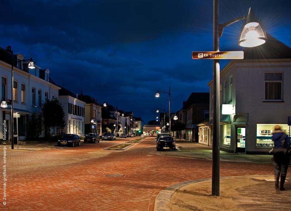 Foto van de straatverlichting in Velp.
