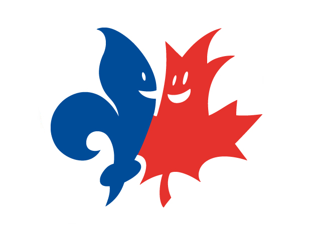 Logo voor 'Let Québec know we care'.