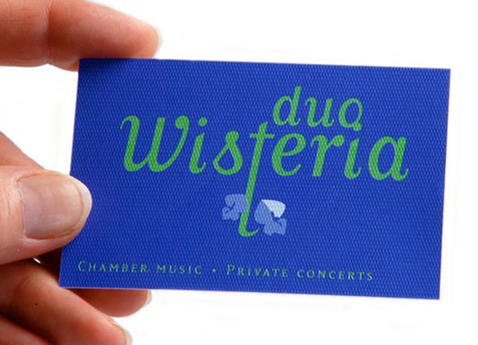Visitekaartje voor piano-ensemble.