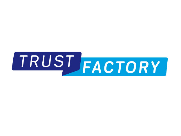 Logo voor Trust Factory.