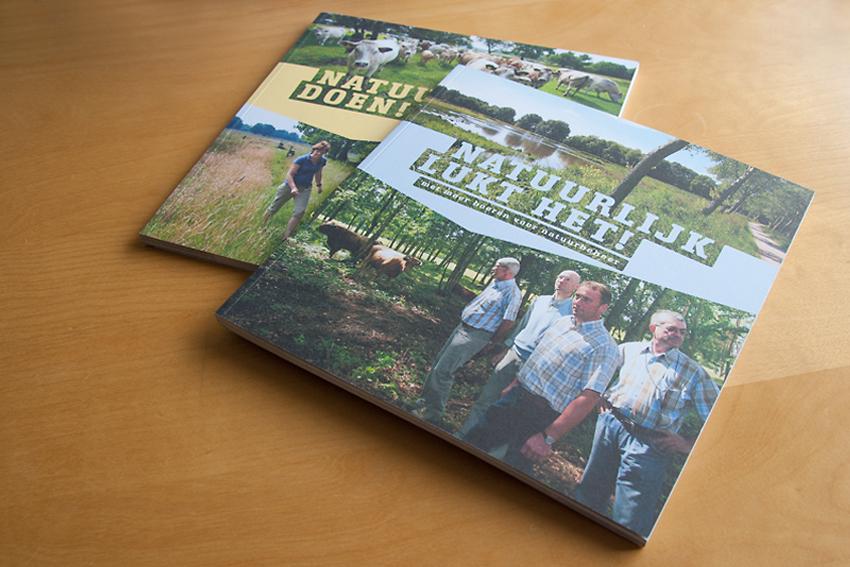 Foto van omslagen van boek 'Natuurlijk doen' voor Ministerie van Landbouw, Natuur en Voedselkwaliteit.