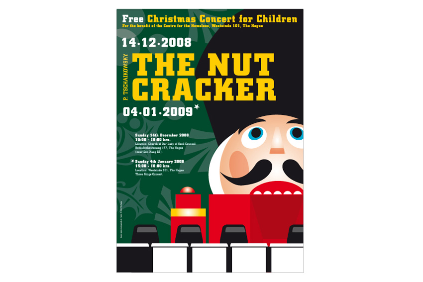 Poster voor pianoconcert The Nutcracker.
