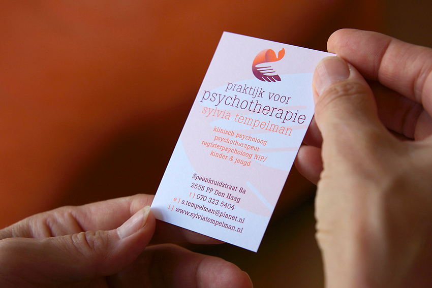 Foto van visitekaartje voor Praktijk voor psychotherapie Sylvia Tempelman.